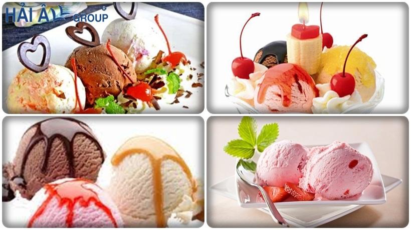 các loại kem được chế biến từ máy làm kem tưoi