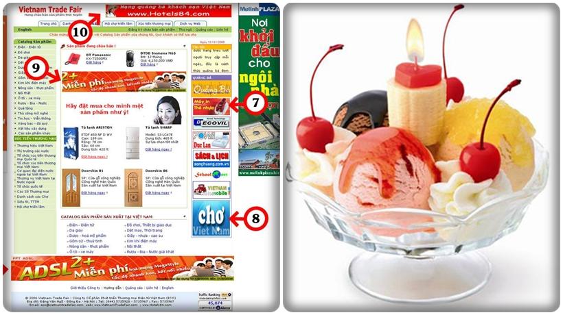 quảng cao remarketing cho cửa hàng kem