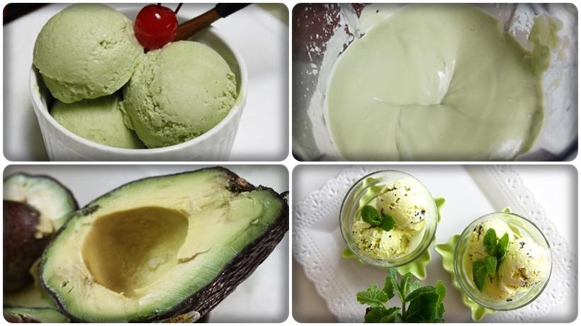 kem tự làm từ quả bơ ngon tuyệt