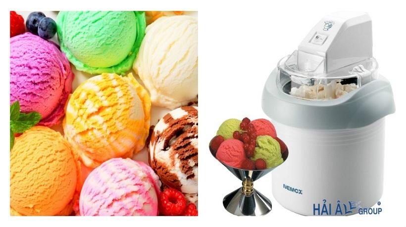 máy làm kem trước