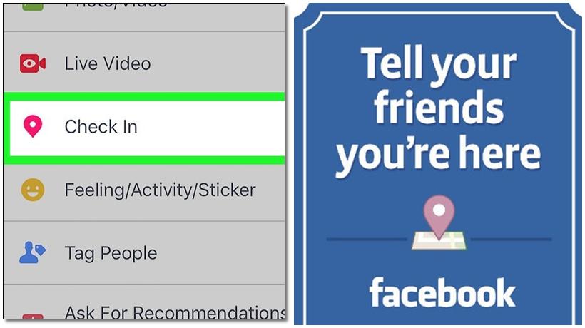 quảng cáo cửa hàng kem với check in của facebook