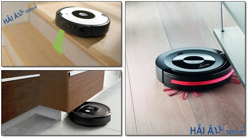 cảm ứng thông minh giúp việc di chuyển robot hut bụi dễ dàng