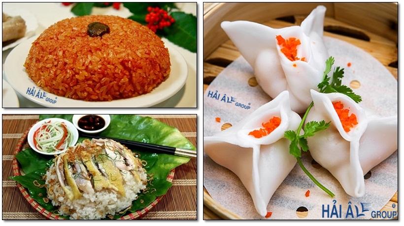 Các món ăn ngon chế biến từ tủ cơm công nghiệp